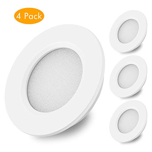 Risestar 3.5inch LED Puck Lights-RV LED Ceiling Light Fixture with On-Off Touch Switch12V Cabinet Lights Ultra Slim Interior Lighting for Car//RV//Trailer//Camper//Boat Warml White 3000-3500K-Dimable 6