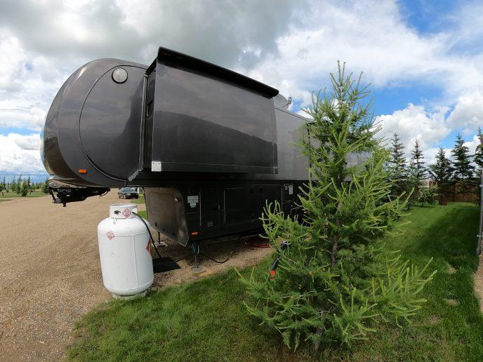 Rental Trailer-outside-view-tree-propane