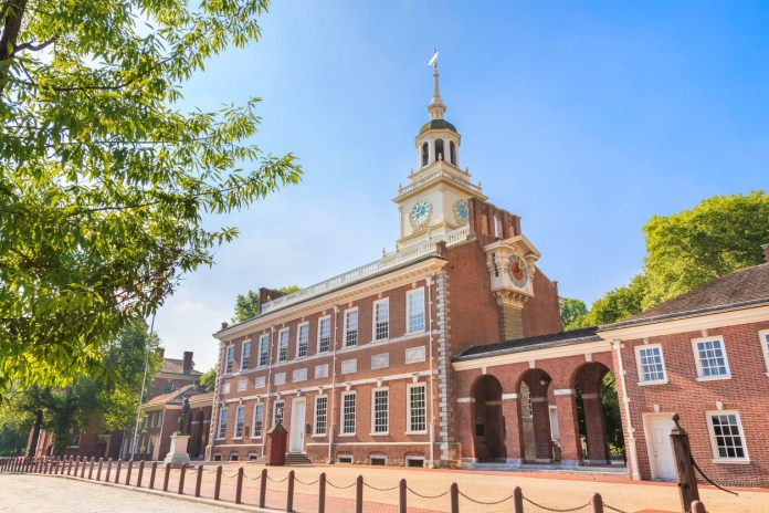 Historic Independence Hall in Philadelphia, Pennsylvania