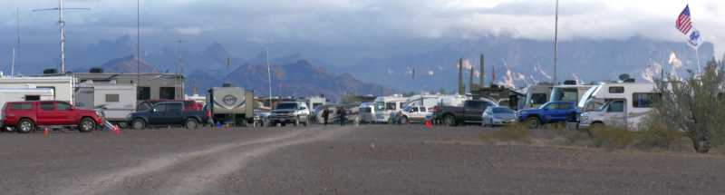 RVs in Quartzsite, AZ during the busy season