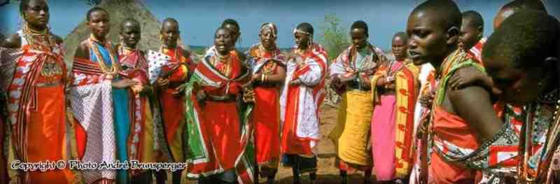 Jeunes femmes Masaï au Mariage Masaï - Nos safaris au Kenya