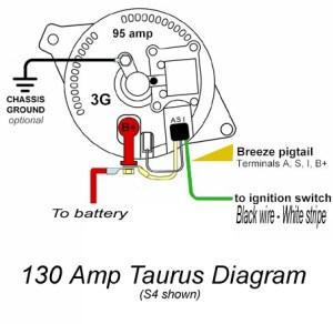 130 amp Taurus alt wiring question  RX7Club  Mazda