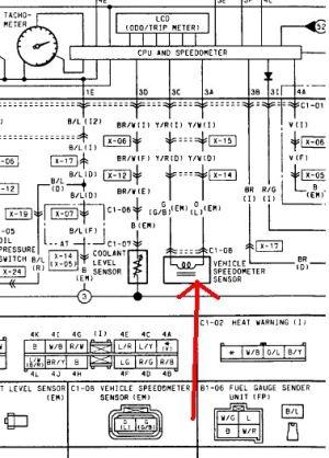 Speedo Sensor & wire location  RX7Club  Mazda RX7 Forum