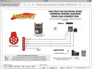 Wiring Racepak IQ3 can connector  RX7Club  Mazda RX7