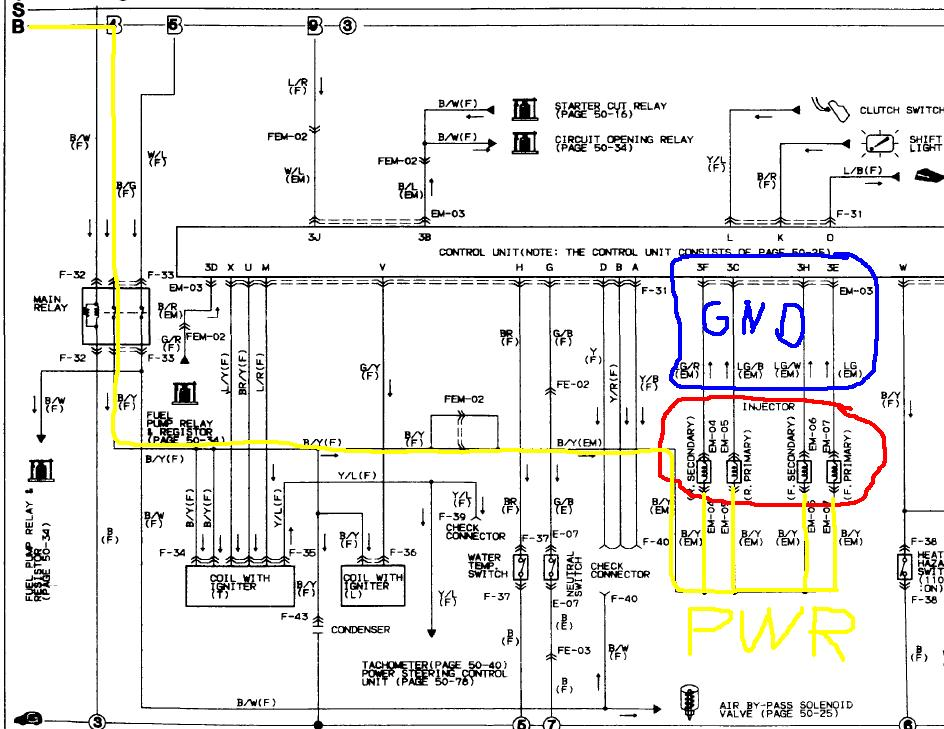 457541d1330214952 no injector pulse 87 rx7 na ecu1?resize=665%2C514 diagrams 1541854 rx7 wiring diagram mazda rx7 series 1 wiring Pioneer Car Stereo Wiring Diagram at highcare.asia