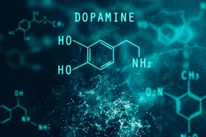3D animation of dopamine chemical structure, Parkinson's