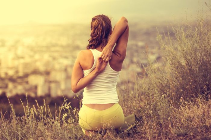 chrinic pain not a problem for this yoga doing young woman