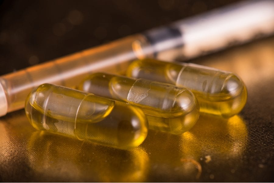 Capsules of Cannabis Oil