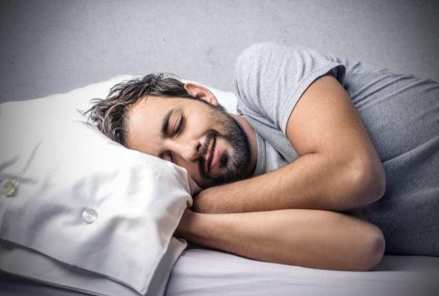 Man sleeping happy