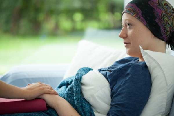 Cancer Patient Woman in Bed