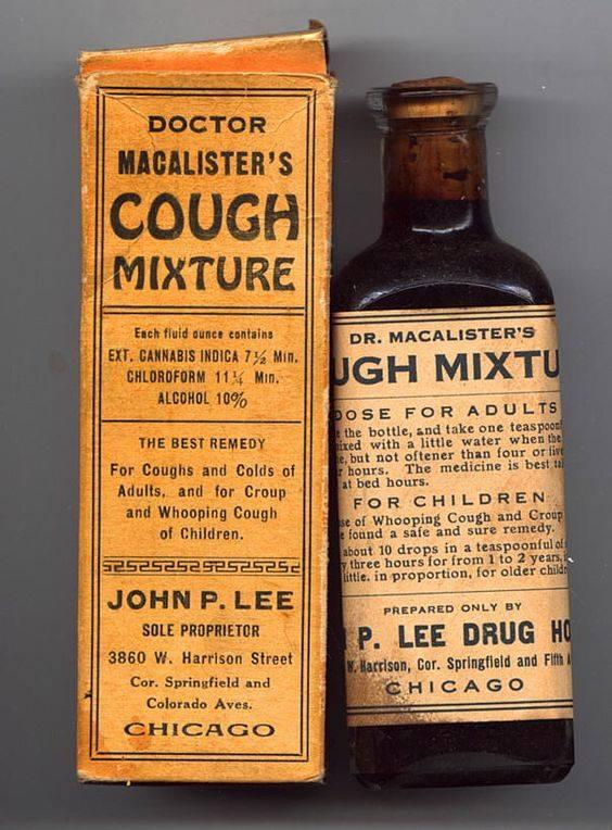 Old 1930s Cannabis Medicine Bottle