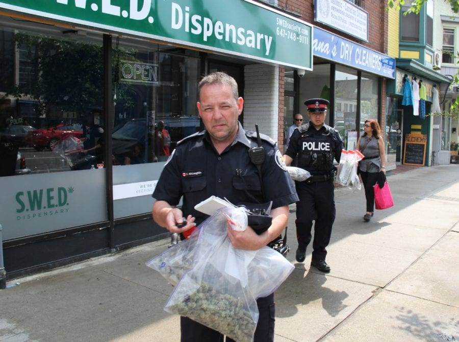 dispensary raid in TO