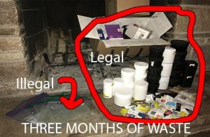 single use plastic problem, cannabis, packaging recycle, black market, weed, medical cannabis, baggie, waste