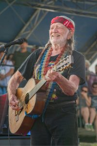 "Willie Nelson, self-styled ""chief tester"" at his cannabis company ""Willies Reserve"""