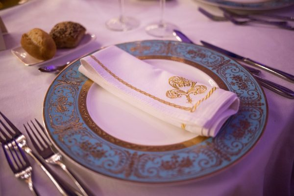 etiquitte represented by plate with fancy napkin