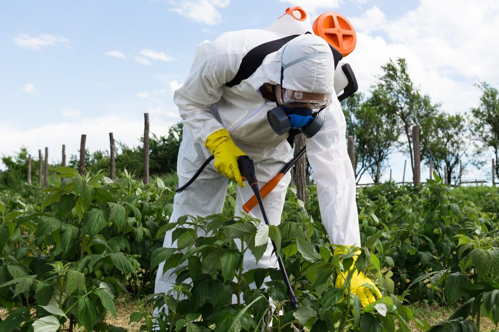 pesticides being sprayed