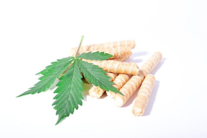 some sort of sugar sticks with cannabis leaf