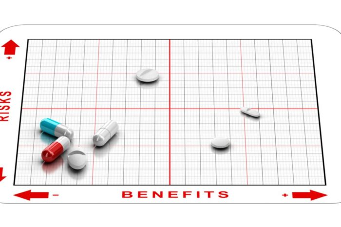 tylenol pm and other pills on a benefits and problems chart