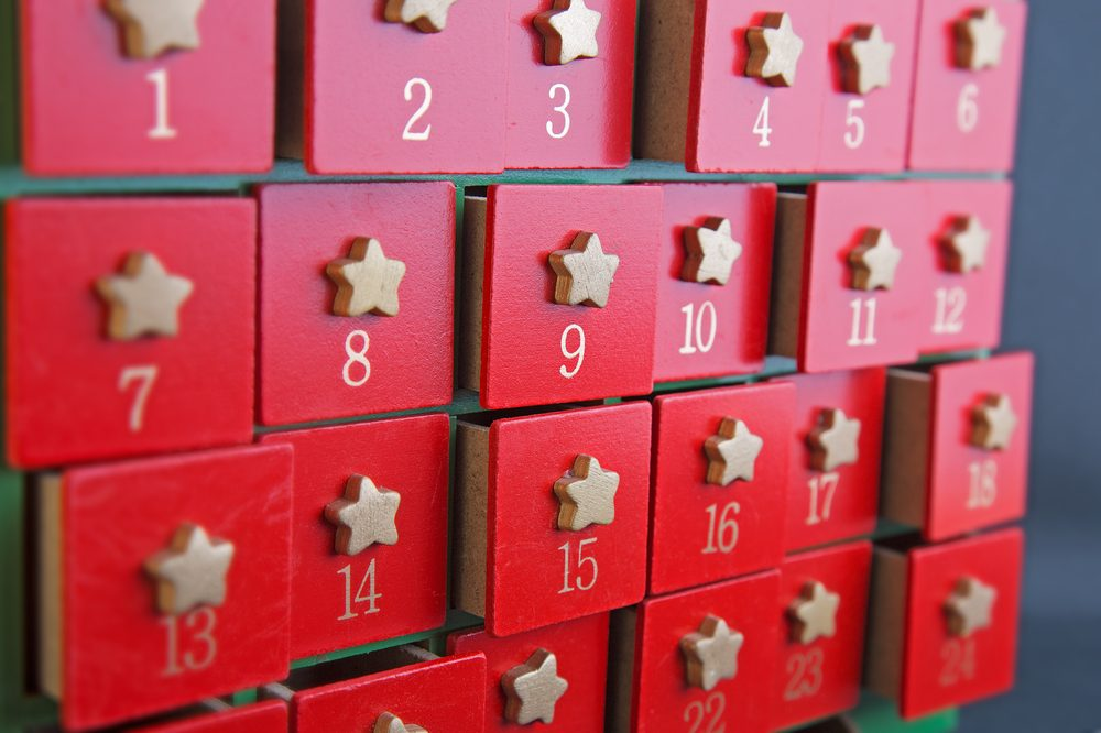 cannabis christmas calendar could be one like this, with multiple strains in each box