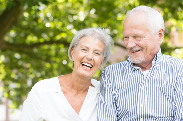 parkinson's psychosis not a problem for this happy older adult and his partner