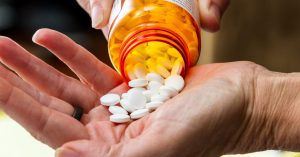 CBD and opioid addiction pills being dispensed