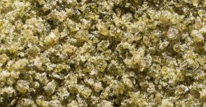 ice wax close up crystals of cannabis with trichomes