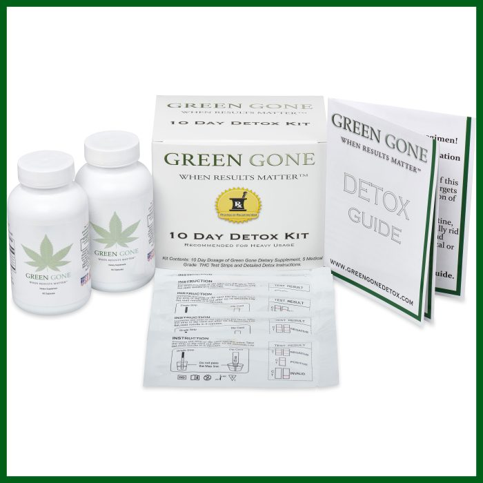 green gone 10 day detox kit box