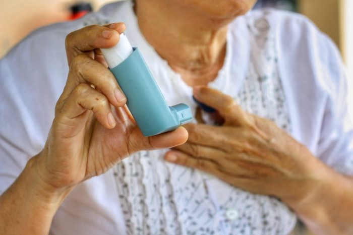 COPD trigger being soothed by inhaler