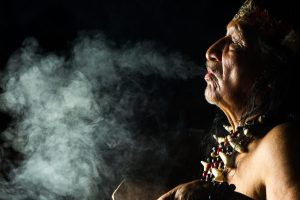 Shaman uses cannabis for a ceremony in the ancient history of cannabis