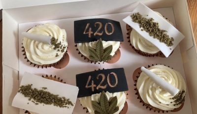 cannabis cupcakes pictured