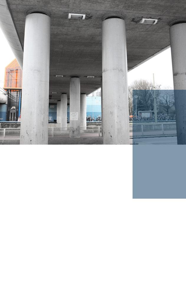 Dit NS-station in Den Haag is belicht met vandaalbestendige verlichting en armaturen van RXLight.