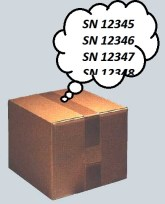 Thinking cardboard box