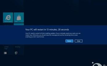 Windows 8: Disable Auto-Restart after Updates feature