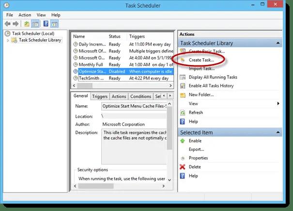 Windows - Auto-Reboot and Shutdown with Task Scheduler