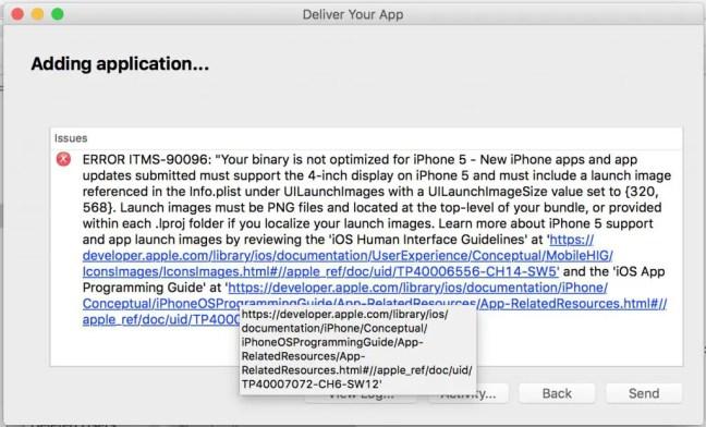 xcode-error-itms-90026