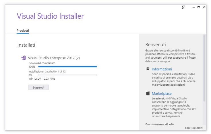 Visual Studio 2017 Installer Stuck at Win10SDK - How to fix
