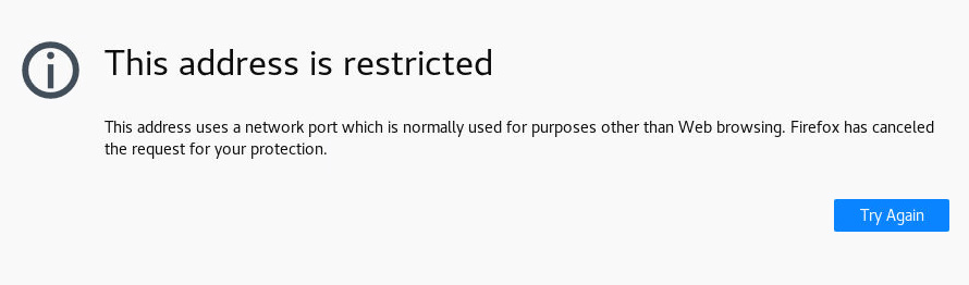 Firefox - This address is restricted - Override Fix