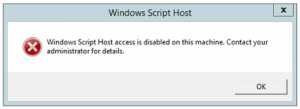 Disable Windows Script Host (WSH) to block .VBS malware