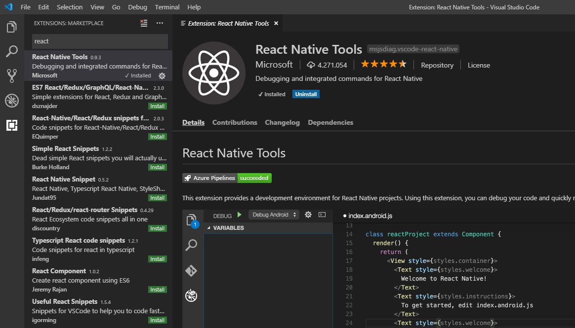 Getting Started with React Native and Visual Studio Code