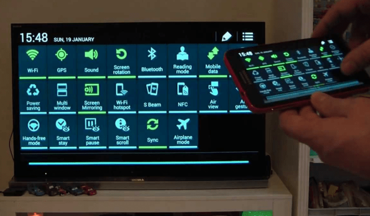 How to share the screen of an Android Tablet or Smartphone on a Smart TV