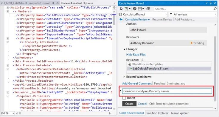 Review Assistant - Peer code review tool for Visual Studio