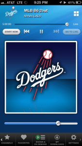 Dodgers on SiriusXM Mobile