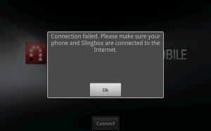 Slingplayer error on ATT Samsung Note