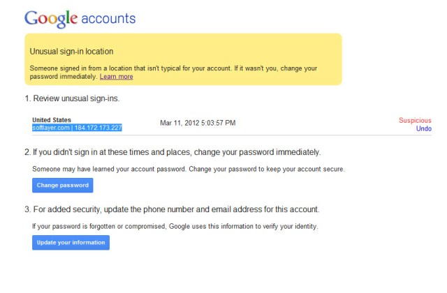 softlayer customer attempting to hack my Google Account