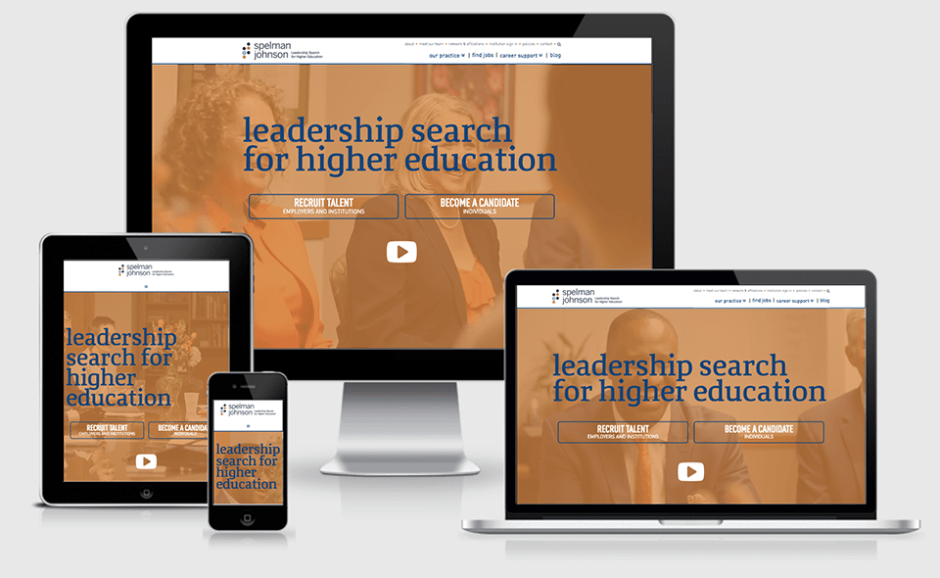 Responsive Layouts of Spelman Johnson website