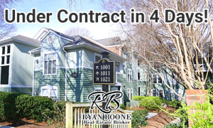 Under Contract: ITB Raleigh Condo for Less than $170,000!