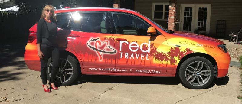 Red Travel Car Wrap