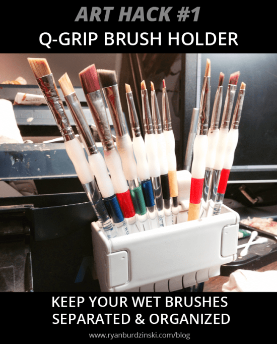 Art Hack- Brush Holder- by Ryan Burdzinski