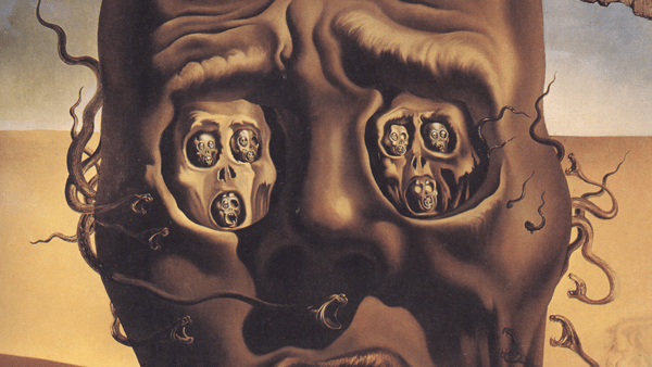 The Face-of War by Salvador Dali