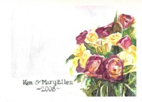 For Ken and Mary Ellen - watercolor painting by Ryan Burdzinski